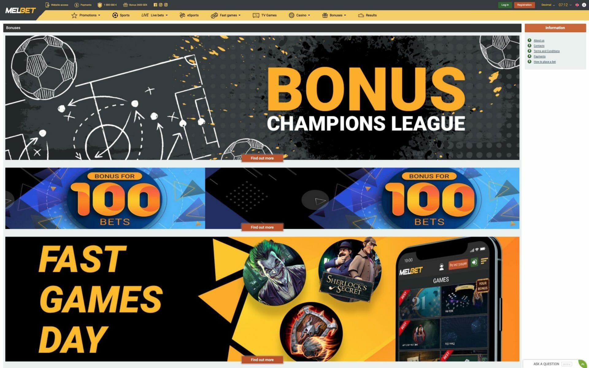Promo Code for Melbet bonus